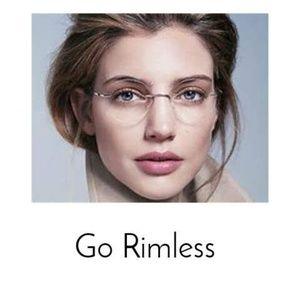 """""""The Harvard"""" Rimless Eyewear"""